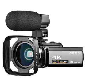 4K Camcorder Video Camera Rosdeca Ultra HD